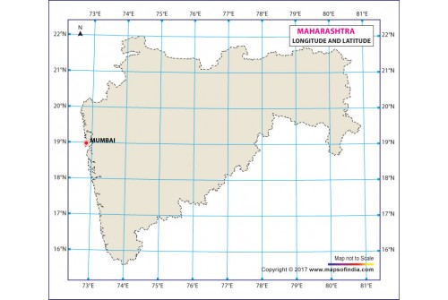 Maharashtra Latitude and Longitude Map
