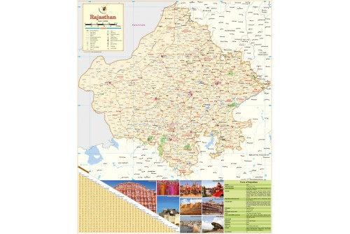 Rajasthan Large Map