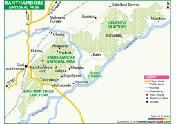 Ranthambore National Park Map, Rajasthan