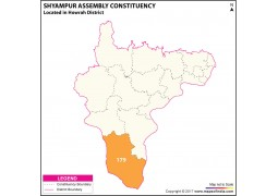 Shyampur Assembly Constituency Map