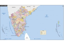 South India District Map