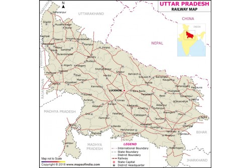 Uttar Pradesh Railway Map