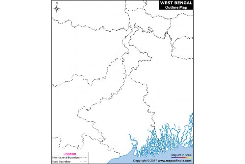 West Bengal Outline Map