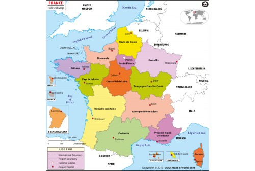 Map Of France Political.Buy Political Map Of France