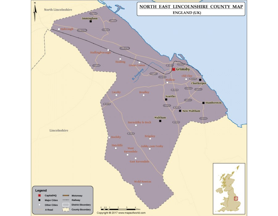 Buy North East Lincolnshire Council Map Online Digital
