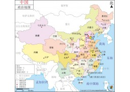 China Map in Chinese (中国地图)