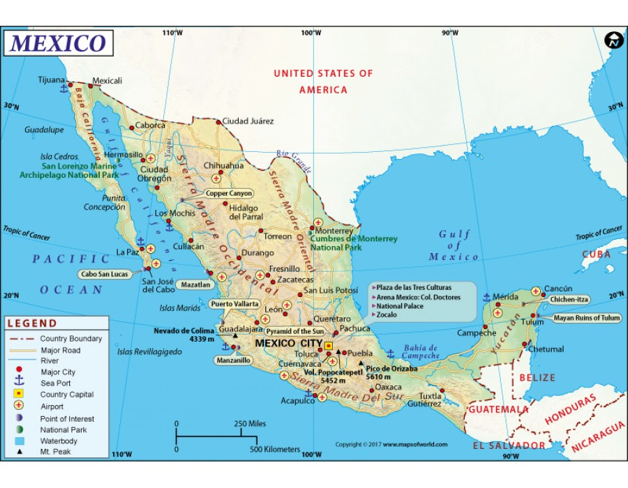 Buy Mexico Map