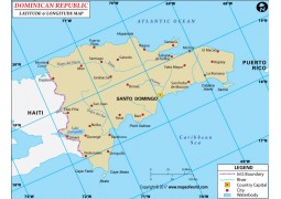 Dominican Republic Latitude and Longitude Map