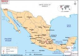 Mexico Rail Map