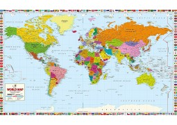 "World Map Professional Edition  (78"" W x 47"" H)"