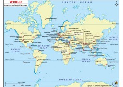 100 Wonders World Map