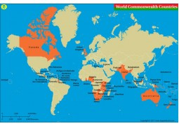 Commonwealth Countries Map