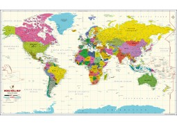 World Map Vivid