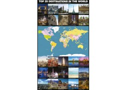 World Top 25 Destinations Map