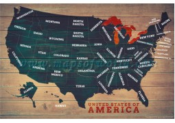 USA Wood Map