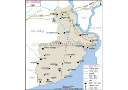 Purba Medinipur District Map In Bengali Language