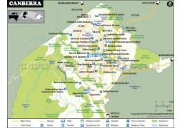 Canberra City Map