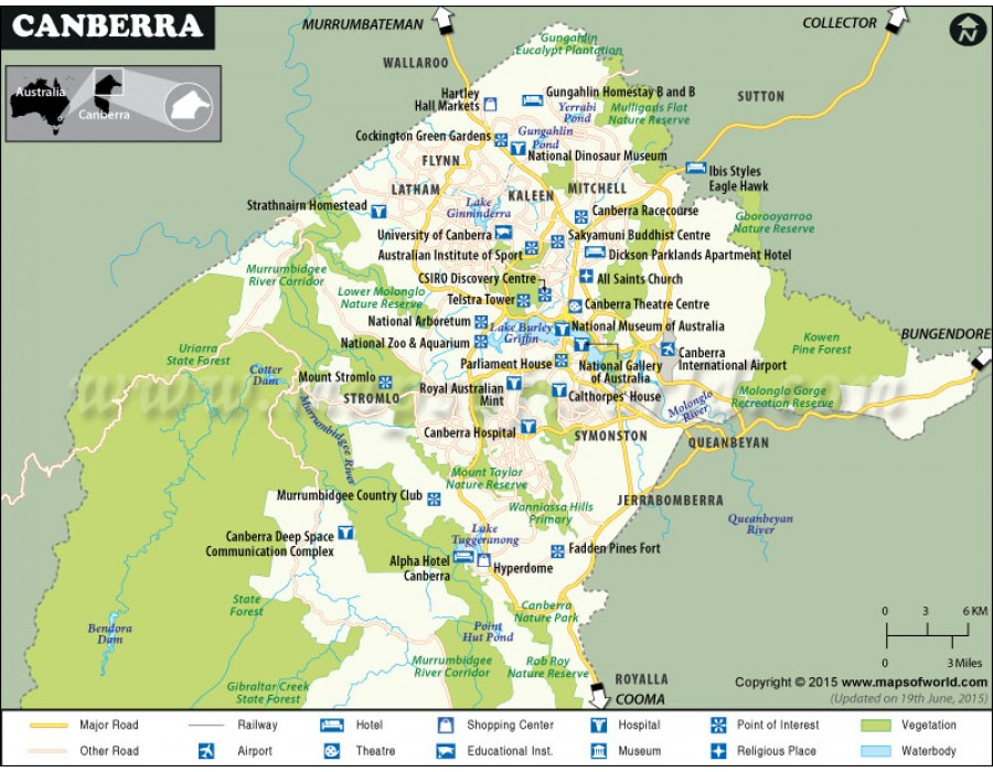 Buy Canberra City Map