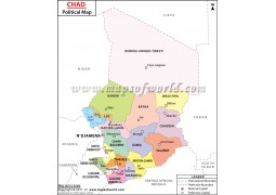 Political Map of Chad
