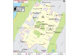 Columbia University in Manhattan New York Map