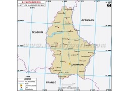 Luxembourg Latitude and Longitude Map
