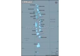 Maldives Latitude and Longitude Map
