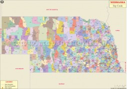 Nebraska Zip Code Map