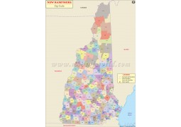 New Hampshire Zip Code Map