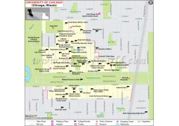 University of Chicago Illinois Map