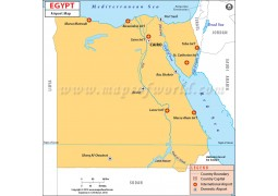 Egypt Airports Map