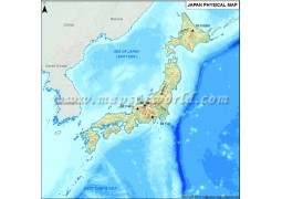 Physical Map of Japan