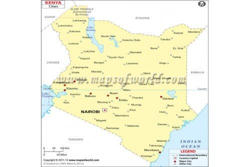 Map of Kenyawith Cities