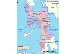 Leyte Map, Philippines