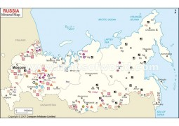 Russia Mineral Map
