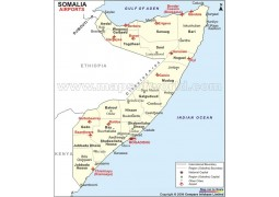 Somalia Airports Map