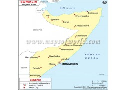 Somalia Map with Cities