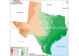 Texas Topographic Map