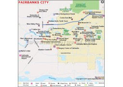 Fairbanks City Map