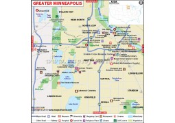 Greater Minneapolis City Map
