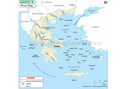Greece River Map