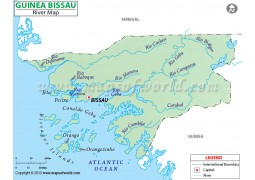 Guinea Bissau River Map
