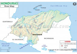 Honduras River Map