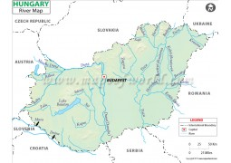 Hungary River Map