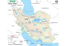 Iran River Map