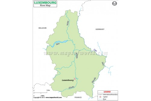 Luxembourg River Map