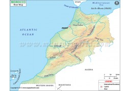 Morocco River Map