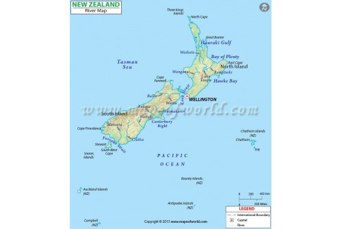 New Zealand River Map