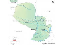 Paraguay River Map