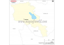 Armenia Outline Map