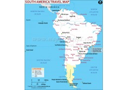 South America Travel Map